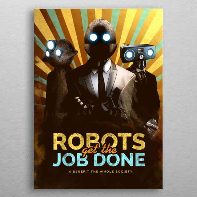 High-quality metal print from amazing Planet Of Robots collection will bring unique style to your space and will show off your personality. metal poster
