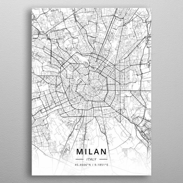 Milan, Italy metal poster