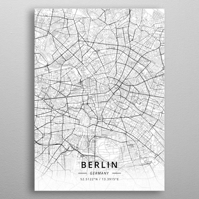 Berlin, Germany metal poster