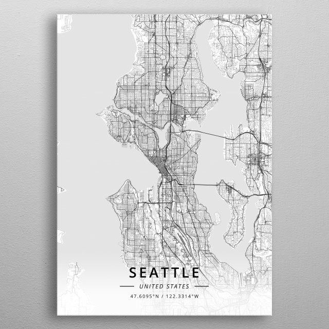 Seattle, United States metal poster
