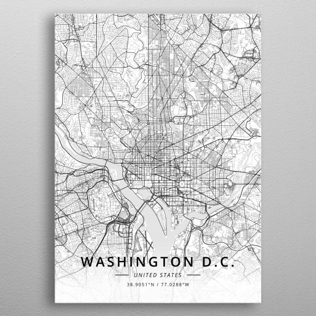 Washington DC, US metal poster