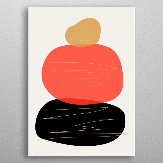 Modern minimal forms 2 metal poster