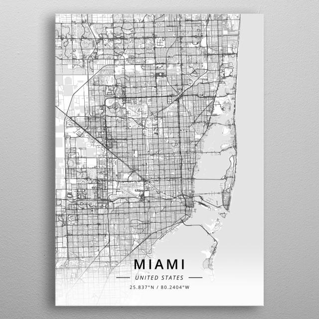 Miami, United States metal poster