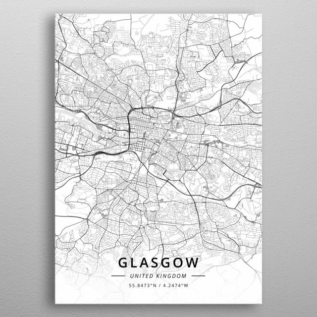 Glasgow, United Kingdom metal poster