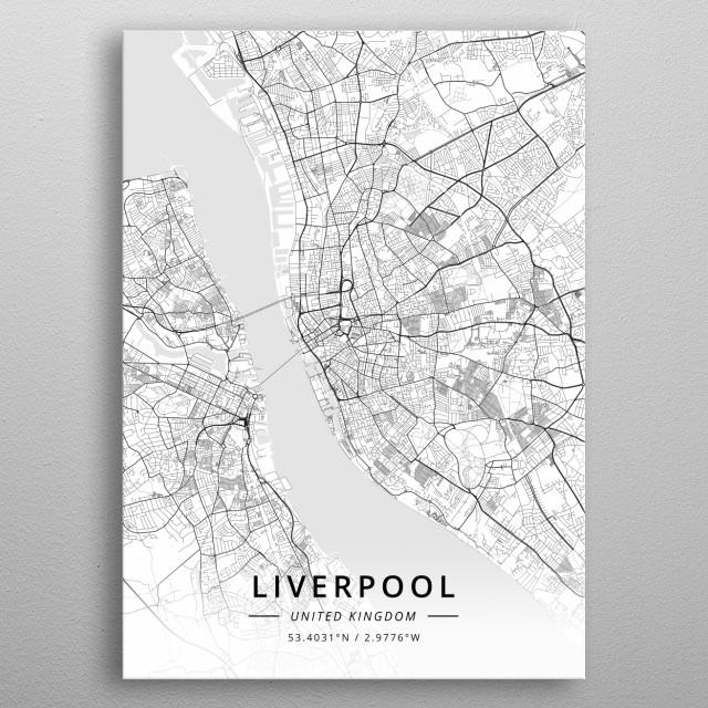 Liverpool, United Kingdom metal poster