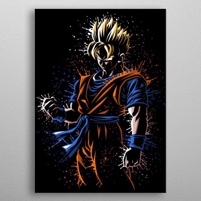 Mirai future Splatter metal poster