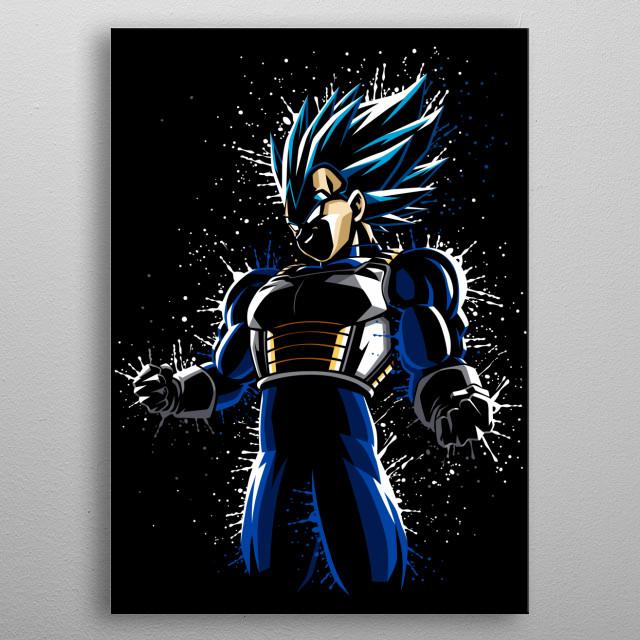 Splatter Ultra Blue metal poster