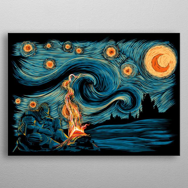 Starry Souls metal poster