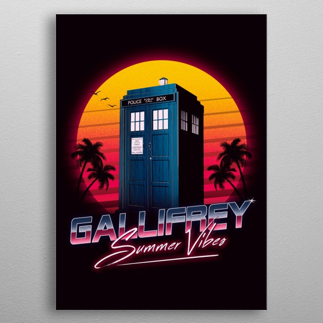 High-quality metal print from amazing 80s Retro collection will bring unique style to your space and will show off your personality. metal poster