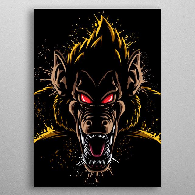 Splatter super monkey metal poster