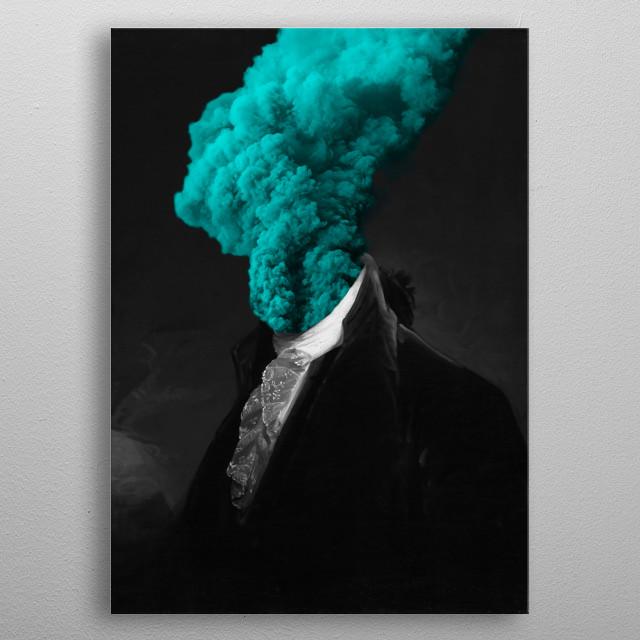 alternative reality - blue metal poster