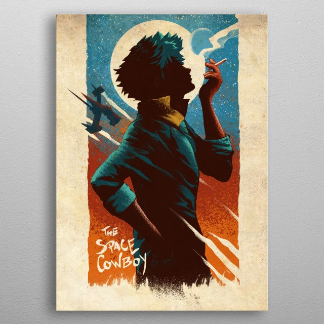 The Space Cowboy metal poster