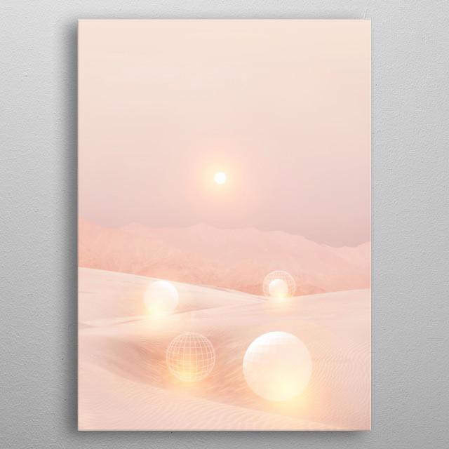 2077 landscape IV metal poster
