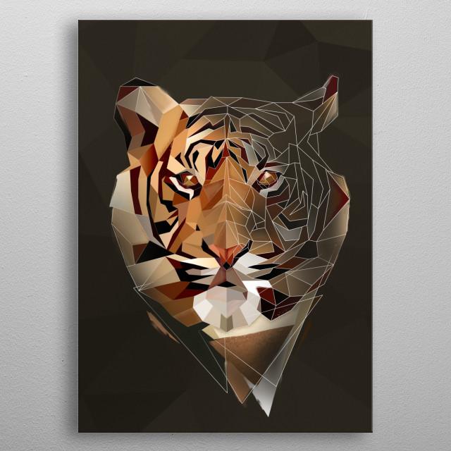 Wild Tiger metal poster