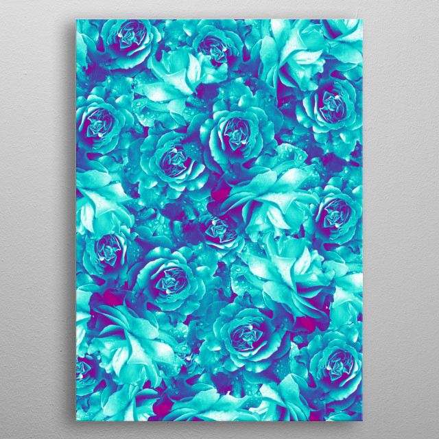 High-quality metal print from amazing Flowerz collection will bring unique style to your space and will show off your personality. metal poster
