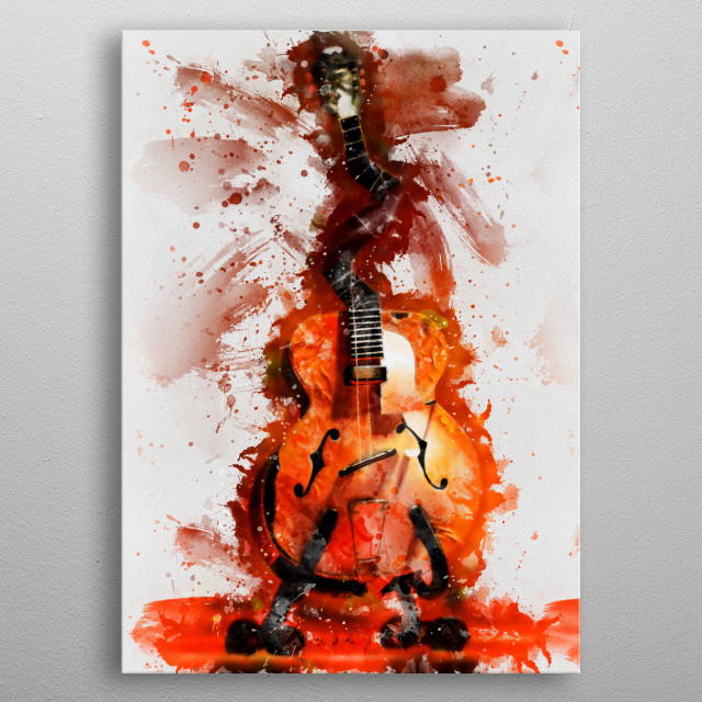 Caricature of Jack White's guitar. Hand painted digital music poster caricature image with photoshop effects. Best gift for every rock music lovers. Decorate your wall with the caricatures of guitars used by rock, metal and blues icons! metal poster