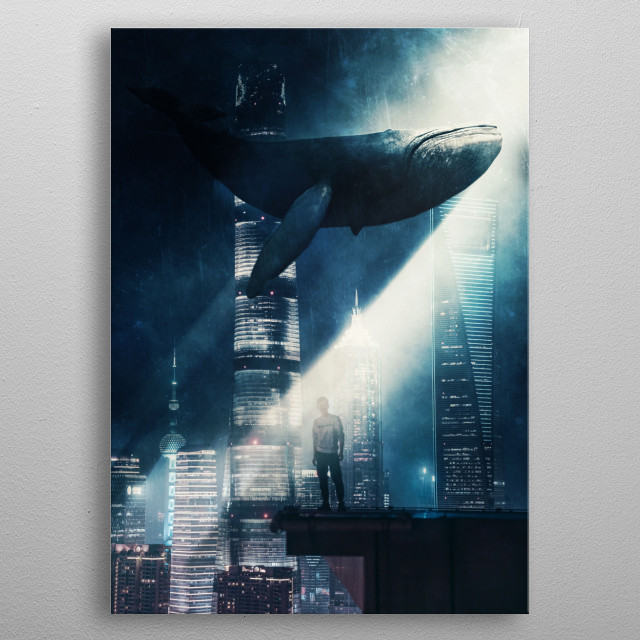 Blue Whale metal poster