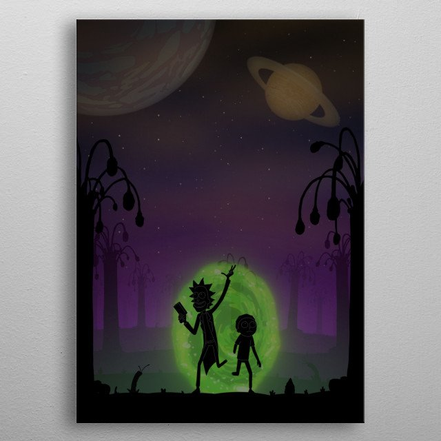 Rick and Morty metal poster