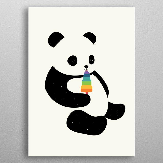 Panda Dream metal poster