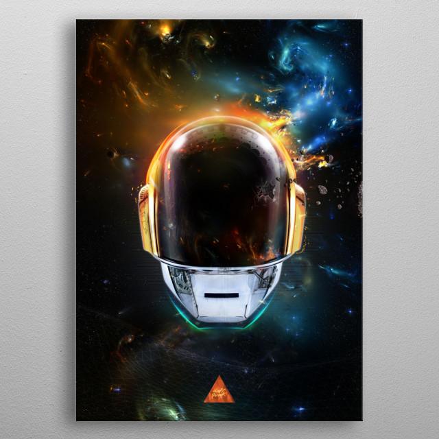 Daft Punk metal poster