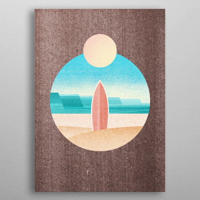 Surfers Paradise metal poster
