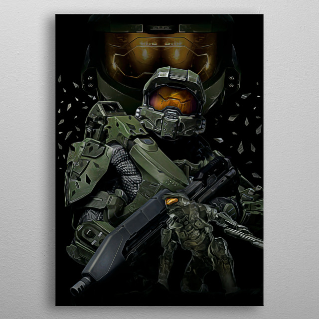 08 | Double Master Chief | Halo metal poster