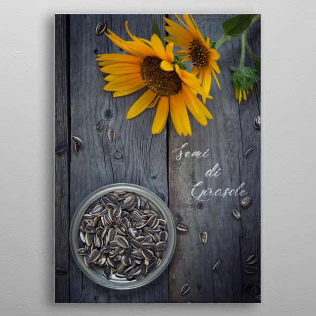 Sunflower seed - Food ingredients series metal poster