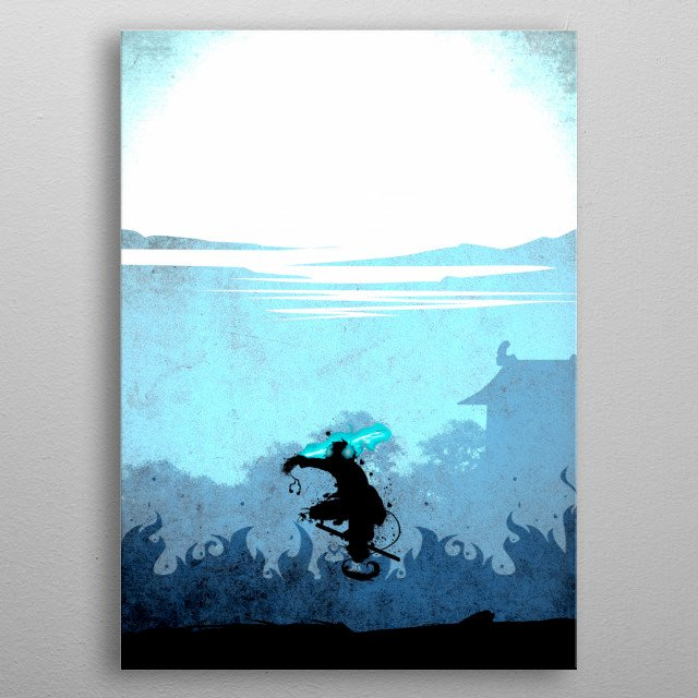 Blue Exorcist Rin metal poster