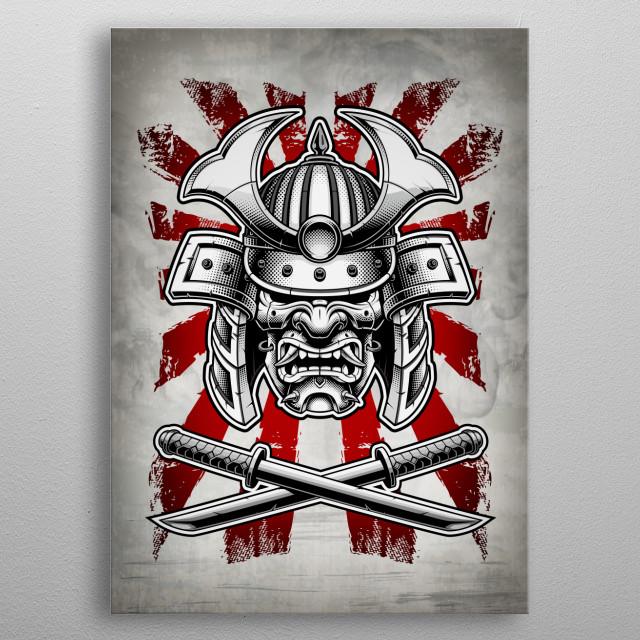 Samurai Mask metal poster