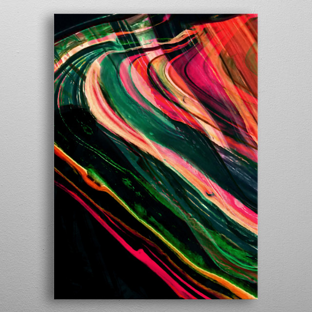 One part of my Abstract Acrylic Painting. ©7-2018 by Pia Schneider, atelier COLOUR-VISION. metal poster