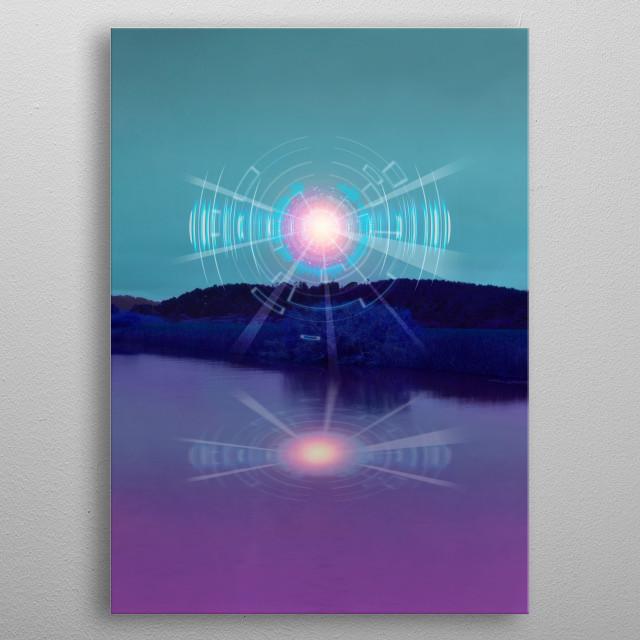 Futuristic Visions 01 metal poster