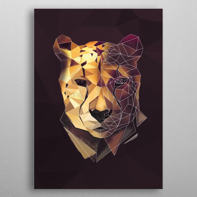 Cheetah metal poster