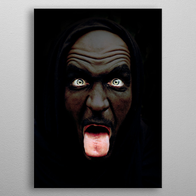 the dark corner creature metal poster