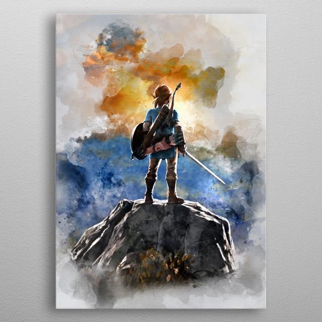 Link / legend of zelda metal poster