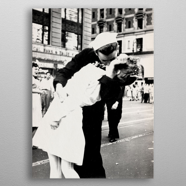 V-J Day in Times Square metal poster