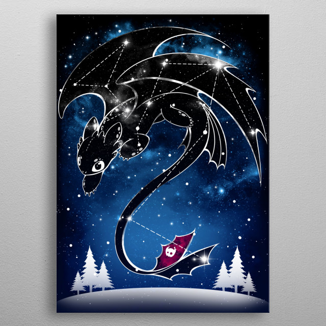 High-quality metal print from amazing Starry Constellations collection will bring unique style to your space and will show off your personality. metal poster