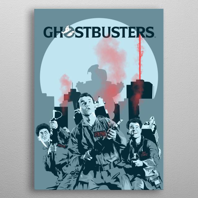 Ghostbusters  metal poster