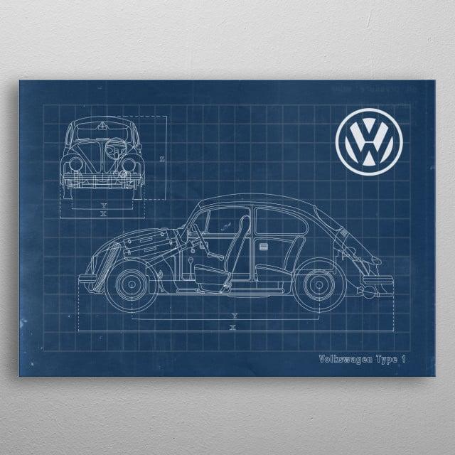 Volkswagen type 1 metal poster