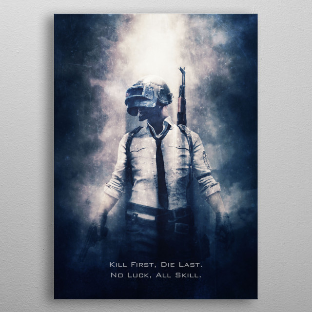 PUBG / tagline metal poster