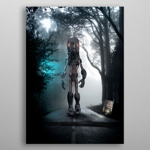 Fascinating metal poster designed by Sam Beaup. Displate has a unique signature and hologram on the back to add authenticity to each design. metal poster