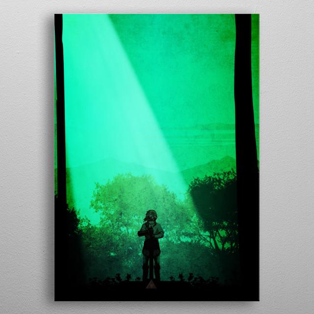 Zelda Master Link  metal poster