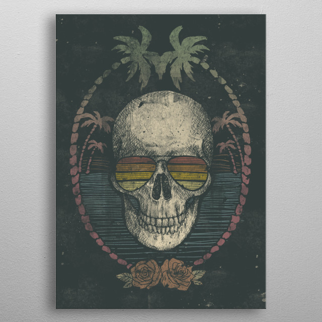 Palm Skull metal poster