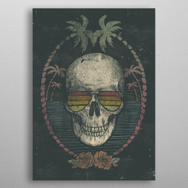 Fascinating metal poster designed by Mike Koubou. Displate has a unique signature and hologram on the back to add authenticity to each design. metal poster