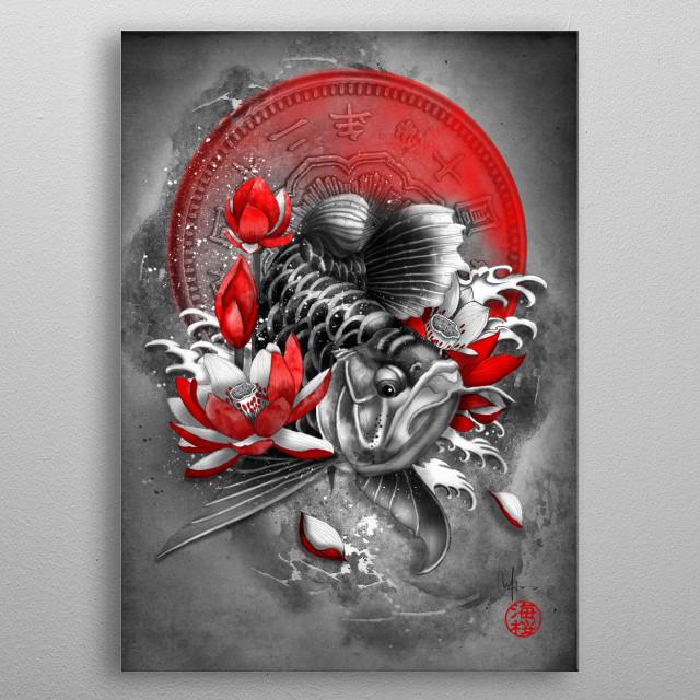 Arowana - Dragon Fish metal poster