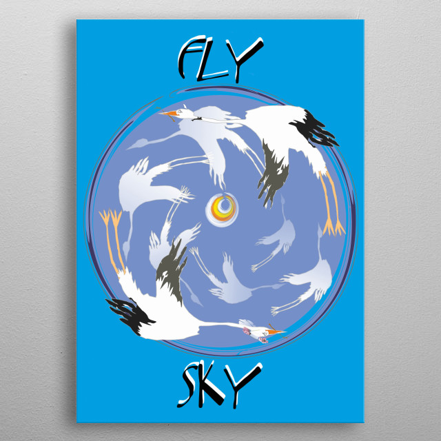 Fly Sky metal poster
