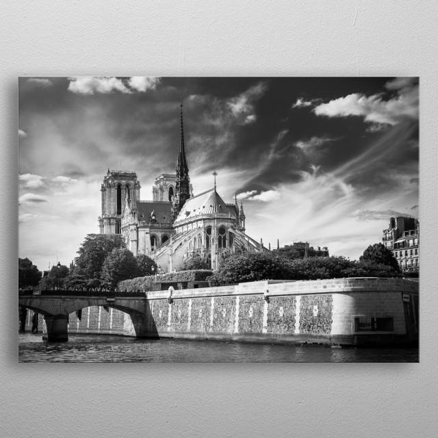 Cathédrale Notre-Dame metal poster