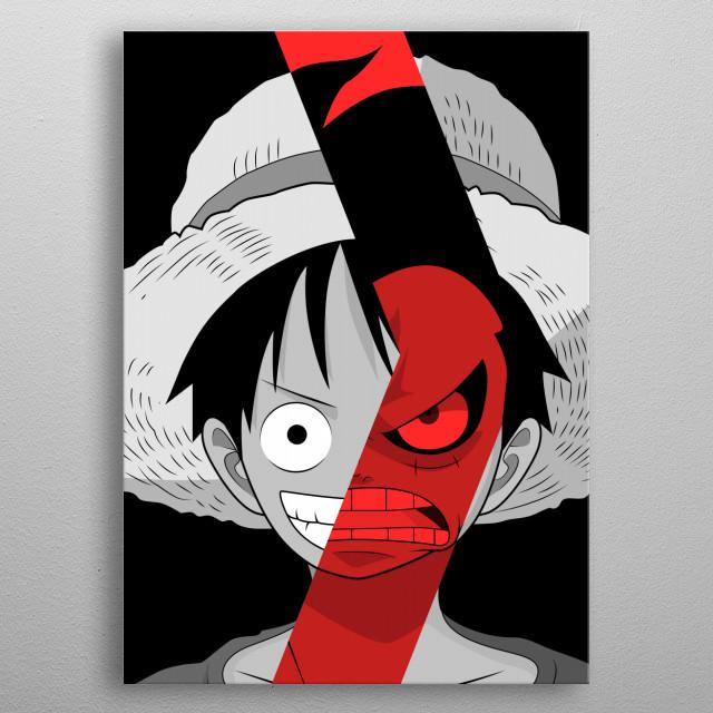 Luffy Gear Fourth (Boundman) metal poster