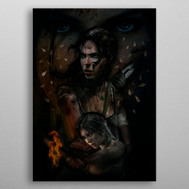 10 | Double Lara Croft | Tomb Raider metal poster