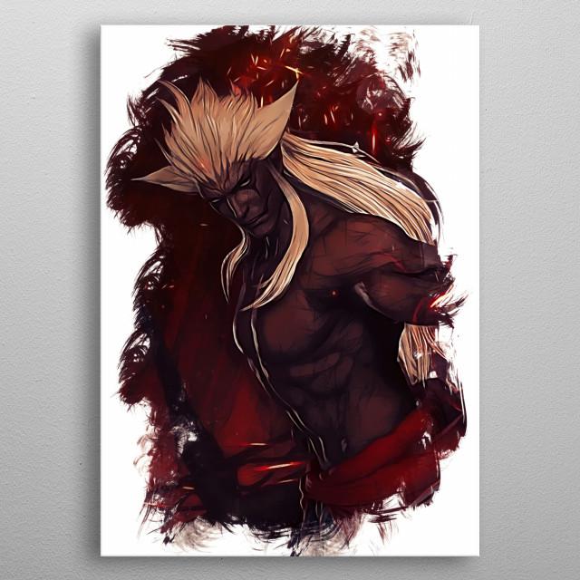 Spiritus sketch metal poster