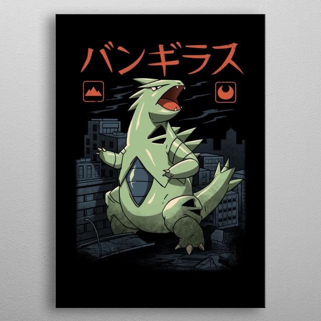 Mega Rock Dark Kaiju metal poster